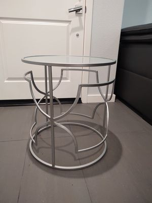 Metal side table with frosted top for Sale in Lake Forest, CA