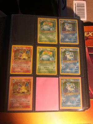 Pokemon Cards Charizard Blastoise Venusaur Mewtwo Holo Foil Holographic Rare Promo Cards Base Set 2 Jungle Fossil Team Rocket Legendary Collection Neo for Sale in Anaheim, CA