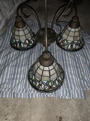 VINTAGE STAINED GLASS CHANDELIER!!! for Sale in East Providence, RI
