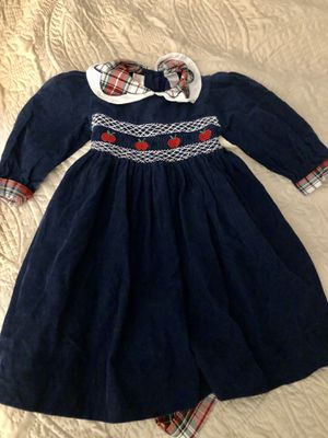 Vintage Polly Flinders cotton corduroy dress 2T for Sale in Adrian, WV