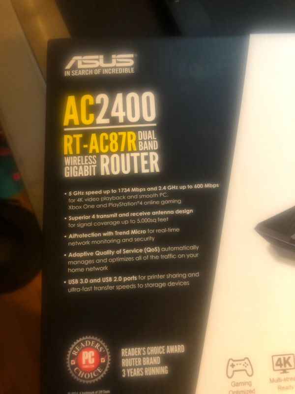 ASUS AC2400 RT-87R dual band router