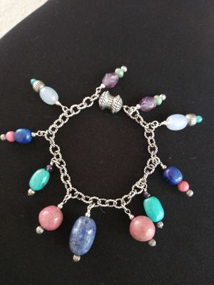 🌵VTG.STERLING SILVER 925 AUTHENTIC STONES BRACELET for Sale in Zionsville, IN