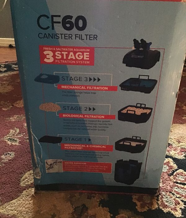 Top fin CF 60 canister filter three stage