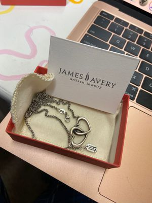 James Avery Double Heart Linked Necklace for Sale in Houston, TX