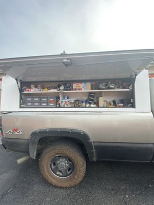 Commercial truck topper, camper shell , enclosed storage system. for Sale in Daly City, CA