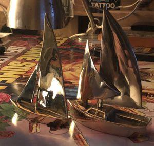 Vintage Brass Nautical Sailboat Paperweight Sculpure for Sale in Von Ormy, TX