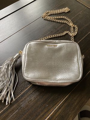 Beautiful Victoria Secret BRAND NEW silver clutch with gold chain strap for Sale in Las Vegas, NV