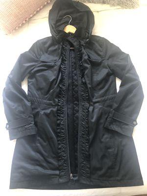 Tahari ruffle rain jacket for Sale in Maywood, NJ