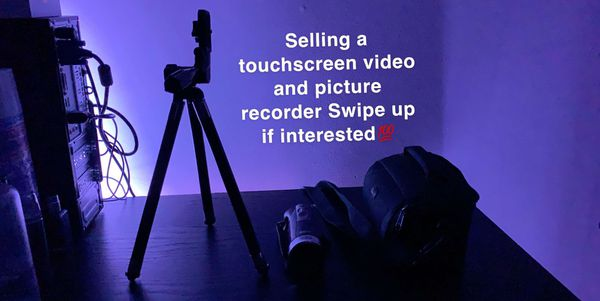 Touch screen recorder with tripod and bag