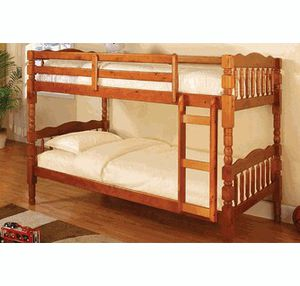 Oak bunk bed divisible to 2 beds ( new )-$220-S.J. for Sale in San Francisco, CA
