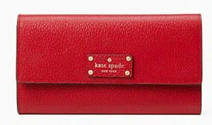 Designer Kate Spade of New York Wellesley Jean Large Wallet Hot Chili (RED) for Sale in Spring Hill, FL