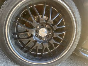 "Black 18"" rims and tires for Sale in Hyattsville, MD"