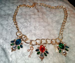 Pre-Owned Costume Jewelry Chunky Gemstone Statement Necklace for Sale in Fremont, CA