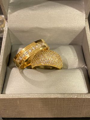 18K Gold plated Engagement/Wedding Ring Set - Code PK20 for Sale in San Diego, CA