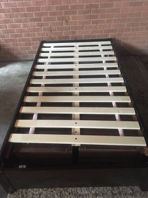 Twin bed frame with under storage for Sale in Denver, CO