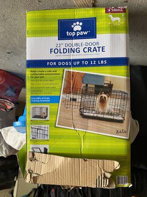 "22"" double door folding dog crate for Sale in Salt Lake City, UT"