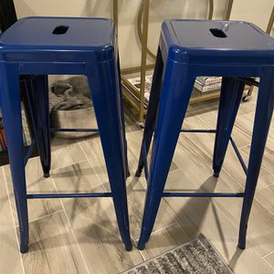 2 Bar Stools in Navy - like new for Sale in Washington, DC