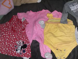 I have some newborn clothes 5 boy onsies (New)$5 and multiple girl nb outfits also a 2pack of newborn size pampers swaddlers diapers 96 count for $20 for Sale in Cleveland, OH