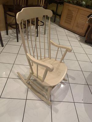 Rocking chair white wooden rocking chair mesedora for Sale in Anaheim, CA