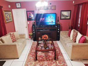 FREE Sofa & love seat beige, micro fiber for Sale in Pembroke Pines, FL