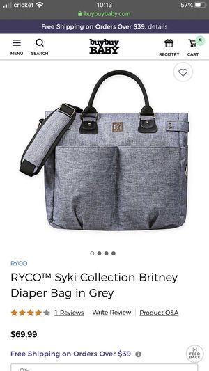 *NEW* RYCO™ Syki Collection Britney Diaper Bag in Grey for Sale in Seattle, WA