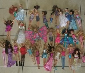Huge barbie lot disney ones 63 dolls altogether for Sale in Lake Worth, FL