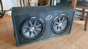 2 12inch kickers with custom made box for Sale in Seattle, WA