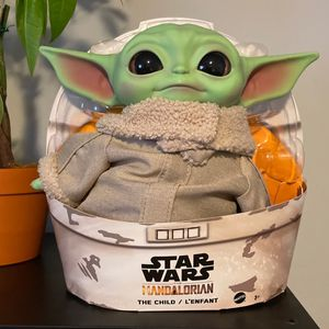 Baby Yoda, the child, Star Wars Mandalorian plush doll for Sale in Upland, CA