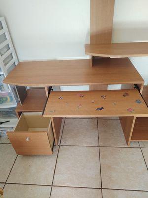 Multi shelf computer desk for Sale in PT CHARLOTTE, FL