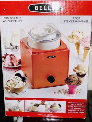 BELLA 1.5qt ICE CREAM MAKER - ORANGE for Sale in Washington, DC