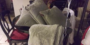 4PC SET 3 GRAY THROW PILLOWS W MATCH THROW BLANKET 15DOL FIRM LOTS DEALS MY POST GO SEE for Sale in Jupiter, FL