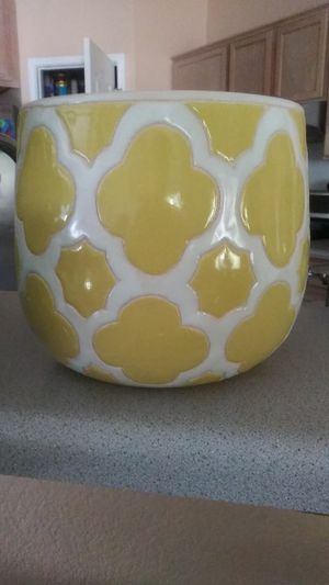 Yellow and white pot. for Sale in Pflugerville, TX