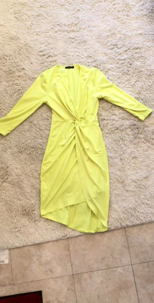 Yellow Ruched Dress for Sale in Ontario, CA
