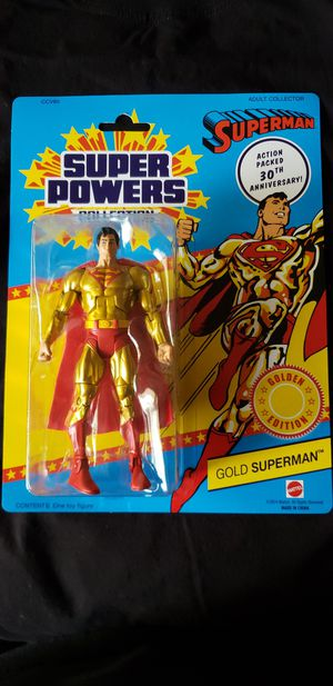 DC Universe Gold Edition Superman w/ box for Sale in Milpitas, CA