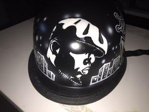 Custom Notorious B.I.G Air Brushed German Motorcycle Helmet for Sale in Atlanta, GA
