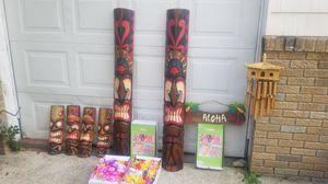 Hawaiin Tiki decorations for Sale in Williston Park, NY