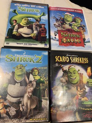 Shrek Dvd Lot of 4 for Sale in Downey, CA