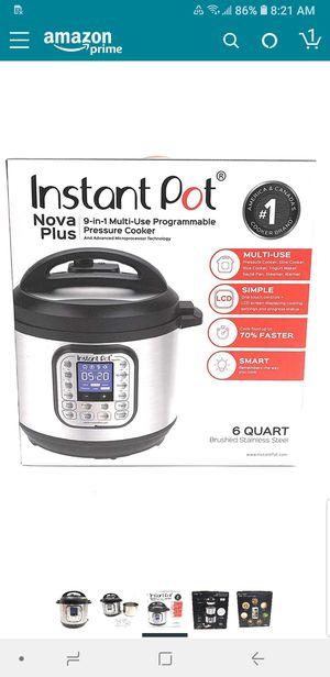 New in box never used Instant Pot Nova Plus 6 Qt 9-in-1 Multi-Use Programmable Pressure Cooker. for Sale in Orange, CA