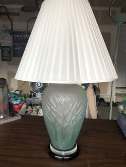Frosted Blue Lamp & Shade-EUC for Sale in Littleton,  CO