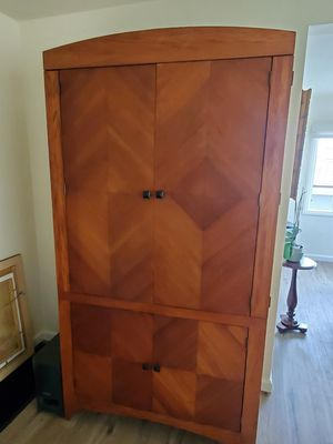TV Armoire / Entertainment Center solid wood for Sale in San Diego, CA