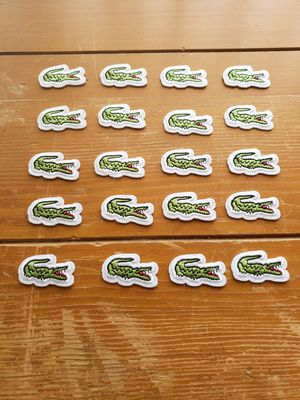 Lacoste patch lot of 20 iron on for Sale in Los Angeles, CA