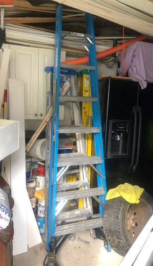 to 6 feet One 8 feet ladder total 3 ladder for Sale in Wheaton, MD