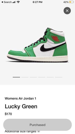 Jordan 1 Lucky Green Size 7.5W for Sale in South Brunswick Township, NJ