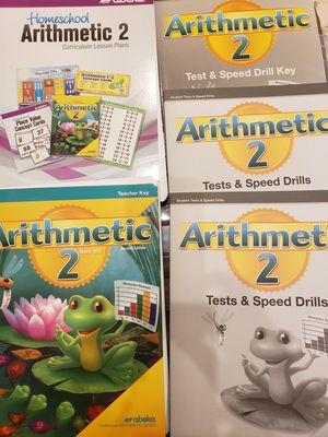 Abeka 2 Grade. Arithmetic 2, homeschool curriculum for Sale, used for sale  Fort Lauderdale, FL