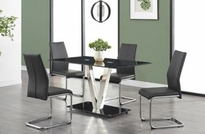 No credit needed modern design 5pc dining table set for Sale in College Park, MD
