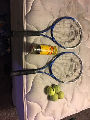 Lightly used tennis rackets with balls for Sale in Houston, TX