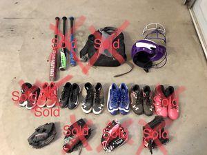 Baseball/Softball Gloves, Cleats, Batting Mask for Sale in Gilbert, AZ