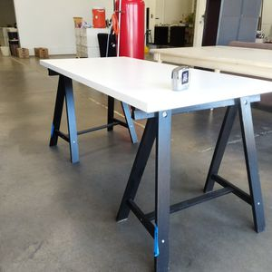 Architectural Table Saw Horses Desk for Sale in Whittier, CA