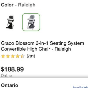 Graco 6-1 Seating System Convertible High Chair for Sale in Chino, CA