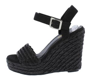 Cute black weave wedges.. size 7 for Sale in Tuscaloosa, AL